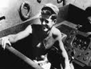 JFK on the boat serving in the war for his country
