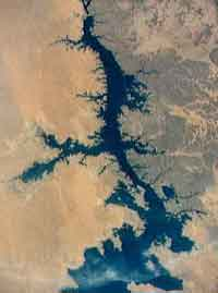 Here is a satellite photograph of the River Nile.