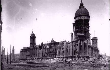 San Francisco City Hall after the 1906 Earthquake.