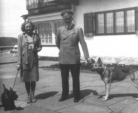 Here is a photograph of Eva Braun and Adolf Hitler.