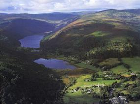 Aerial photograph of Glendalough